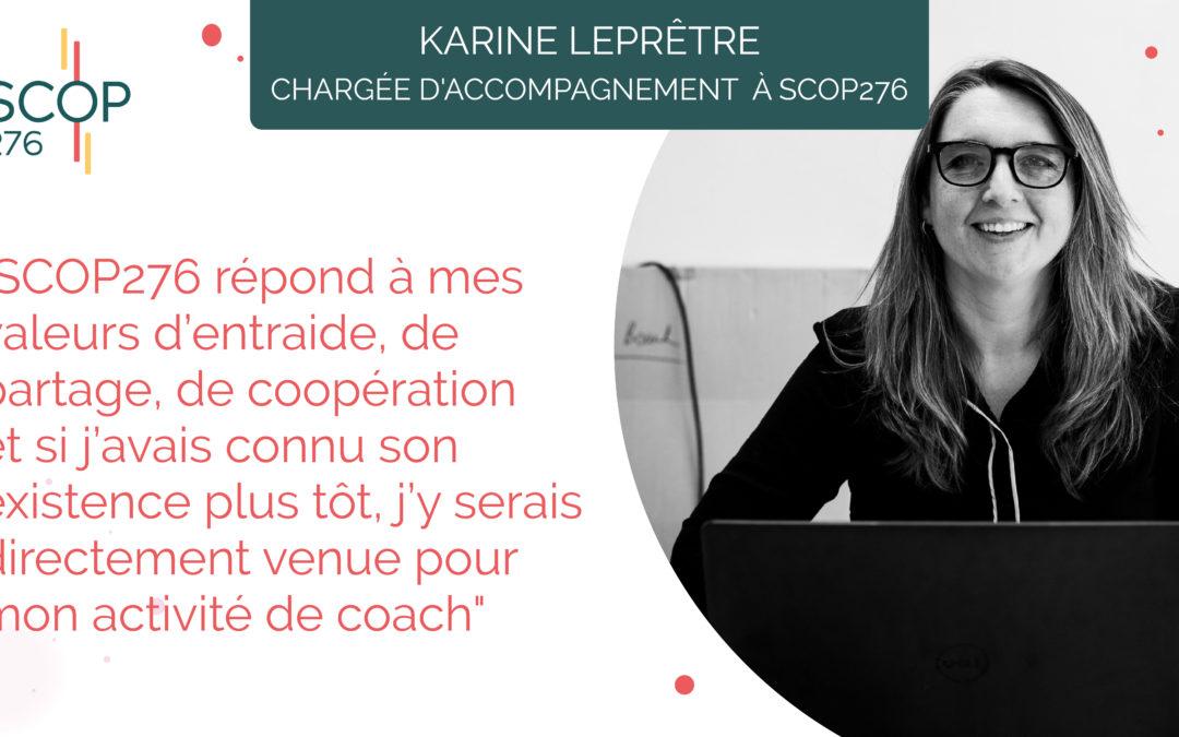 Portrait de Karine, nouvelle chargée d'accompagnement à SCOP276